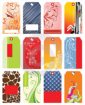 Colorful Tags Stock Photography - Image: 18039722