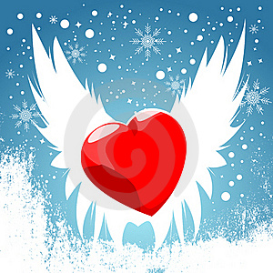 Heart Wing Stock Image - Image: 18040551