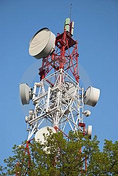 Communication Tower Stock Photo - Image: 18041920