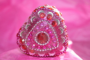 Jeweled Heart Stock Photos - Image: 18043553