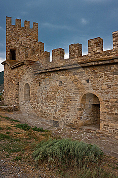 Genoese Medieval Fortress Stock Photography - Image: 18043882