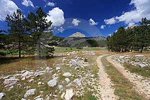 Tracks To The Peak Royalty Free Stock Photography - Image: 18048807