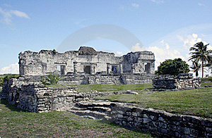 Ruins At Tulum Mexico 2 Royalty Free Stock Image - Image: 18057386