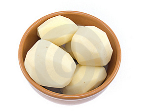 Capacity With The Cleared Potato Stock Image - Image: 18059281