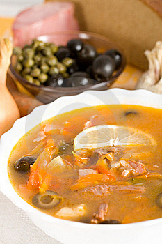 Soup From Meat And Vegetables Royalty Free Stock Image - Image: 18059616