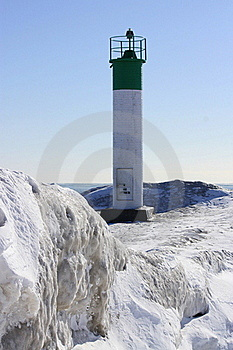 Winter Lighthouse Stock Photography - Image: 18060322