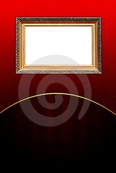 Vintage Frame On Dark Red Background Stock Photography - Image: 18060862