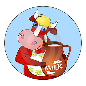 Cow And Milk Stock Images - Image: 18061754