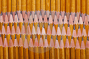 Pencils Edge Of Each Other Vertically Royalty Free Stock Photos - Image: 18069718