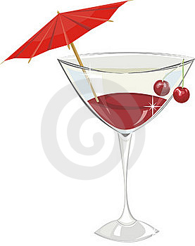 Cocktail With A Cherry Royalty Free Stock Images - Image: 18070589