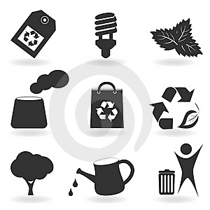 Eco And Environment Icon Set Royalty Free Stock Images - Image: 18074149