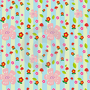 Seamless Flowers Royalty Free Stock Photo - Image: 18075535