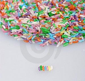 Colored Grain Rice Stock Image - Image: 18076531