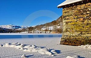 Boathouse On Frozen Rydal Water Stock Photo - Image: 18077350