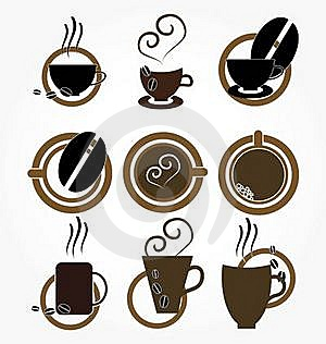 Cup Of Coffee.set. Royalty Free Stock Photography - Image: 18081517