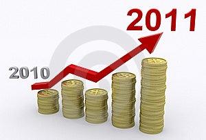 Profit Growth 2011 Royalty Free Stock Photo - Image: 18083135