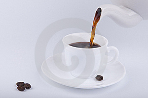 Pouring Coffee Royalty Free Stock Images - Image: 18084199