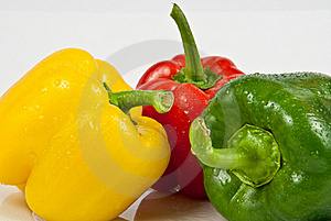 Bell Peppers On A White Background Royalty Free Stock Photography - Image: 18086177