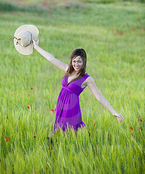 Beauty On Field Stock Photography - Image: 18086872