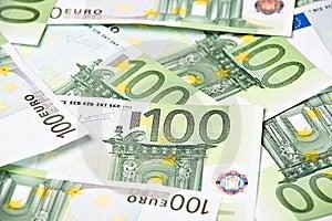 One Hundred Euros Background Royalty Free Stock Images - Image: 18087059