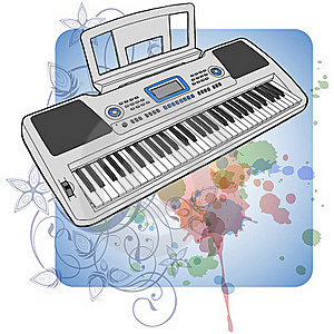 Electronic Musical Midi Keyboard - Synth Stock Photos - Image: 18087293