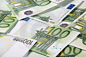 One Hundred Euros Background Stock Images - Image: 18087454