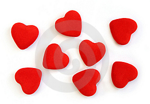 Red Fluffy Hearts Stock Photo - Image: 18087520