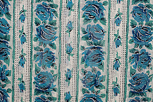 Fabric With Blue Roses Royalty Free Stock Photos - Image: 18087608