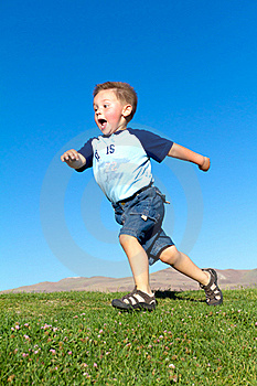 Little Boy In Move Stock Photos - Image: 18088823