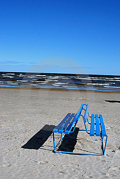 Bench Near The Sea Royalty Free Stock Photography - Image: 18089007