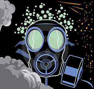 Protection With Gas Mask Stock Photography - Image: 18090562