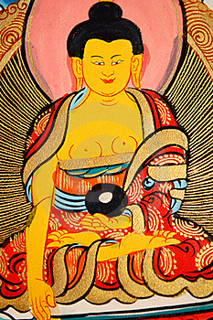 Detials Of A Tibetan Thangka Royalty Free Stock Photography - Image: 18090637