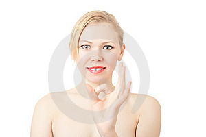 Happy Lucky Young Woman With Ok Gesture Royalty Free Stock Image - Image: 18090826