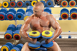 Body Builder Lifting Weights Stock Photos - Image: 18093193