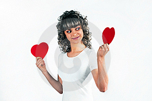 Young Beautiful Girl Keeps The Heart Royalty Free Stock Photography - Image: 18095727
