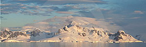 Antarctic Landscape Panoramic Royalty Free Stock Images - Image: 18095989
