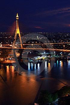 Bhumibol Bridge Royalty Free Stock Images - Image: 18096439
