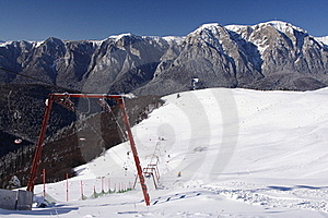 Ski Slope & Ski Lift Stock Image - Image: 18096741