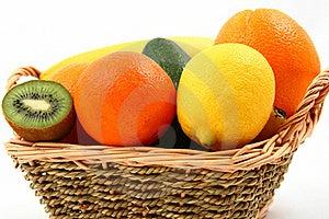 Exotic Fruits Basket Stock Photo - Image: 18097600