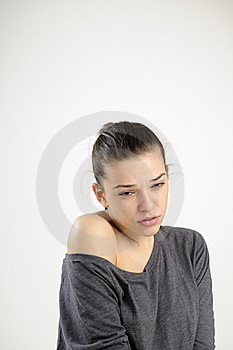 Sad Girl Suffering Royalty Free Stock Image - Image: 18097886
