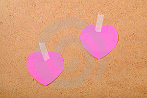 Stickers In The Form Of Heart Stock Images - Image: 18098464