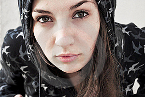 Sensitive Young Woman Royalty Free Stock Photography - Image: 18099007
