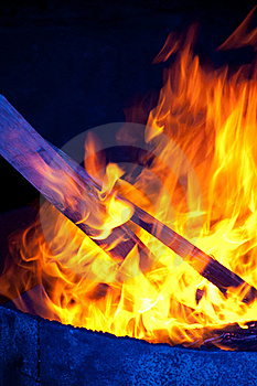 Blue Flames Stock Photography - Image: 18099812