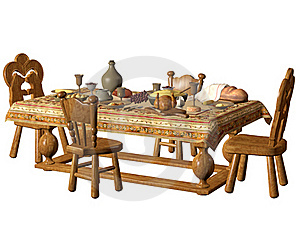 Dining Table 1 Royalty Free Stock Photography - Image: 18099907