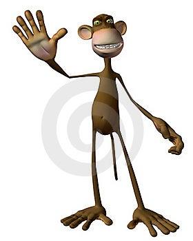 Toon Monkey Stock Photography - Image: 18099952