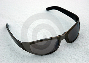 Sunglasses On To Snow Stock Photos - Image: 1811073