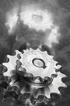 Gears In Monochrome Stock Photography - Image: 1812432