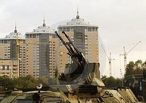 Guns Of Military Vehicle Stock Photo - Image: 1812810