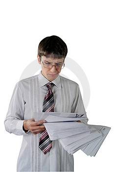 Troubled Young Businesman Royalty Free Stock Photography - Image: 1817497