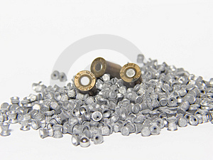 Pneumatic And 9mm Bullets Royalty Free Stock Photos - Image: 1818018